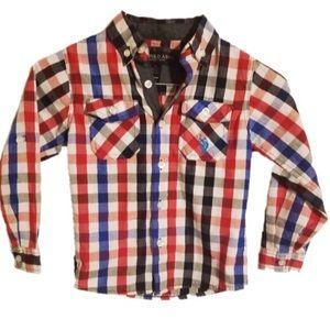 U.S. Polo Assn boys button down shirt. Size 4.